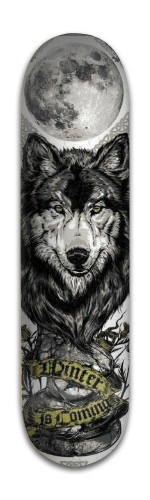 Wolf with full moon Park Complete Skateboard 8 x 31 3/4
