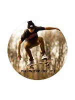 Macho You Are Your Only Limit Sticker 4 x 4 Circle