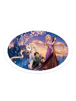Tangled Sticker 6 x 4 Oval