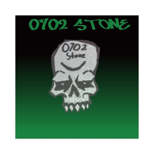 F 0702 Stone Sticker 4 x 4 Square