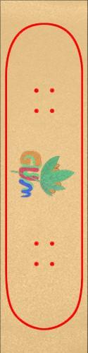 GUM PLANT Custom skateboard griptape