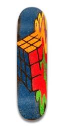 melting rubix cube deck Park Skateboard 7.5 x 31.370