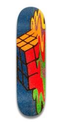 melting rubix cube Park Skateboard 7.5 x 31.370