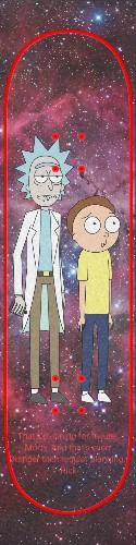 Rick and Morty- planning for failur Custom skateboard griptape