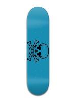 Blue Skull Park Complete Skateboard 8 x 31 3/4