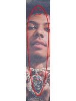 Blueface Baby Custom skateboard griptape