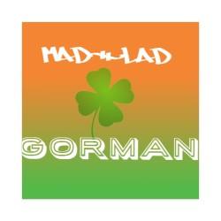 GORMAN logo Sticker 4 x 4 Square