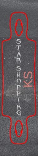 star shoping lil peep Custom skateboard griptape