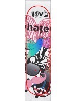 LOVE HATE Custom skateboard griptape
