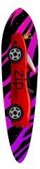 zip car longboard Classic Pintail 10.25 x 42