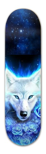 Wolf with Roses Banger Park Complete Skateboard 8.5 x 32 1/8