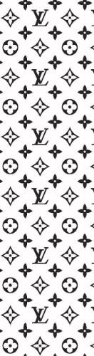 Black and white Louis Vuitton Whatever Skateboards Skateboard