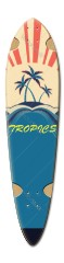 ryan longboard 15 Dart Skateboard Deck v2