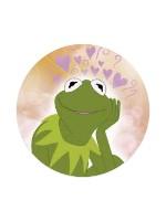 Cutie Kermit Sticker 4 x 4 Circle