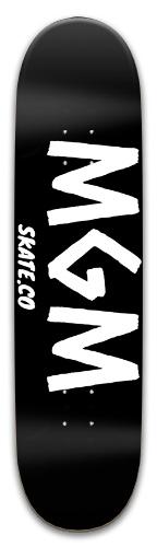 MGM SKATE.CO BLACK DECK Park Skateboard 8 x 31.775
