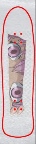 Yuno Custom skateboard griptape