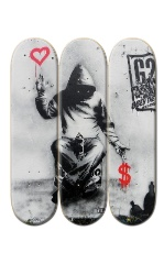 3 Deck Custom Skateboard Mural