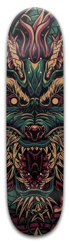 Old Japanese Dragon Park Skateboard 8 x 31.775