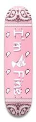 im fine skate co pink bandanna deck Park Skateboard 8.5 x 32.463