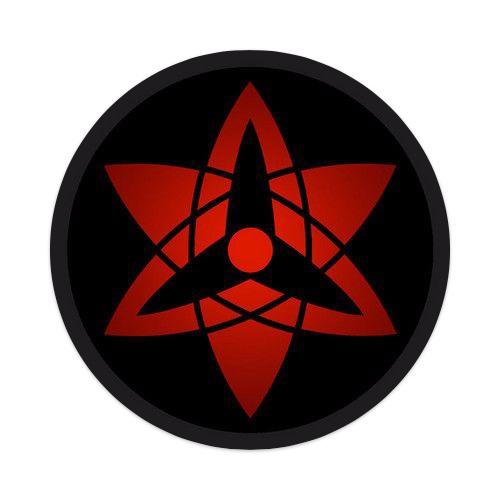 Sasuke sharingan board Sticker 4 x 4 Circle