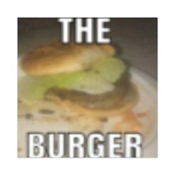 the burger Sticker 4 x 4 Square