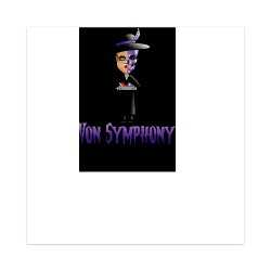 Von Symphony Sticker 4 x 4 Square