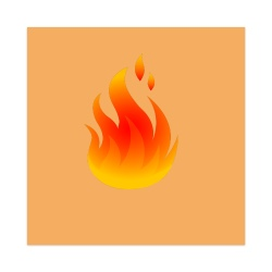 Fire Sticker 4 x 4 Square