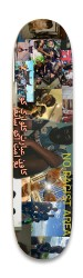 NO RACIST TEAM Park Skateboard 8.25 x 32.463