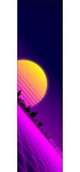 80's retro sunset synthwave Custom Skateboard Griptape 9x34 in.