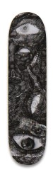 Sketched Faces Park Skateboard 8.25 x 32.463
