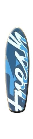 French Blue Mountain Glider Lilguy Skateboard Deck