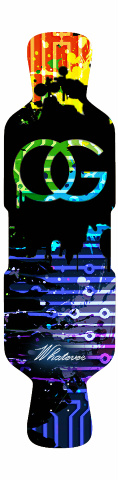 OG Circuit Paint Splatter Perfecto 39 Skateboard Deck