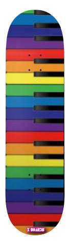 Colorful Piano Park Skateboard 8 x 31.5
