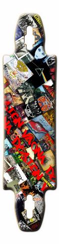 rock on Gnarliest 40 Skateboard Deck