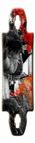 the steps Gnarliest 40 Skateboard Deck