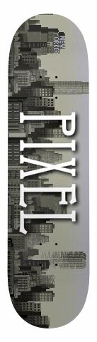 Pixel Cityscape Deck Banger Park Skateboard 8 x 31.5