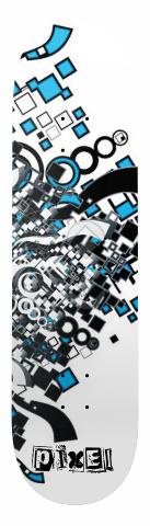 Pixel Retro Geometric Blast Deck Banger Park Skateboard 8.5 x 32