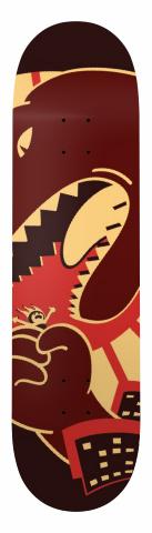 Pixel Kaiju Movie Deck Banger Park Skateboard 8 x 31.5