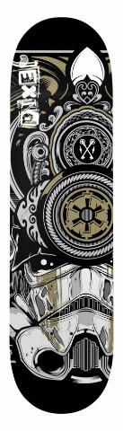 Pixel Storm Trooper Samurai Art Dec Banger Park Skateboard 8 x 31.5