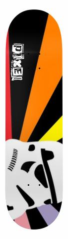 Pixel Rainbow last Trooper Deck Banger Park Skateboard 8 x 31.5