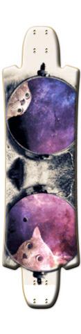 Space Cat w/ Glasses FUBAR High Skateboard Deck