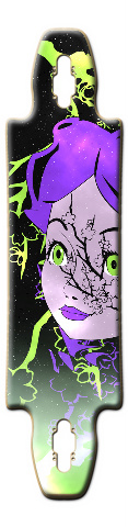 Alice In Blossm Space Gnarliest 40 Skateboard Deck