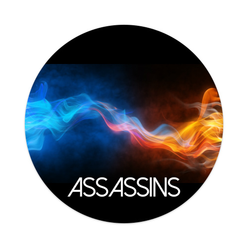 Assassins Sticker 4 x 4 Circle
