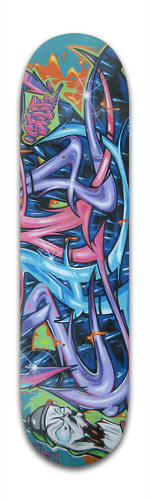 Zane Graffiti Banger Park Skateboard 8 x 31 3/4