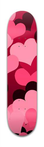 Hearts on Hearts Banger Park Skateboard 7 3/8 x 31 1/8