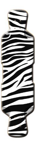 Zebra Stripes Perfecto 39 Skateboard Deck