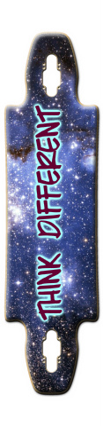 Think different - Ride different Gnarlier 38 Skateboard Deck