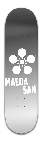 the Maeda San- Silver Logo Banger Park Skateboard 8.5 x 32 1/8