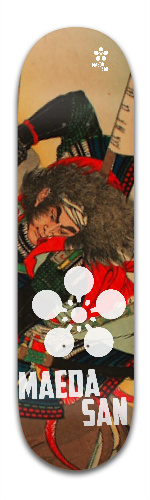 the Maeda San- Samurai Collection Banger Park Skateboard 8.5 x 32 1/8