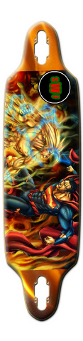 goku V. superman Fatso Skateboard Deck